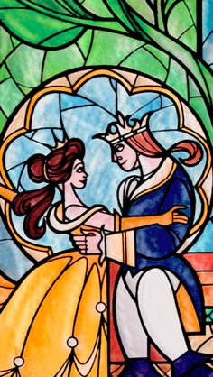 New wallpaper disney princess belle stained glass 46 ideas Disney Pixar, Arte Disney, Disney And Dreamworks, Disney Magic, Disney Art, Disney Stained Glass, Stained Glass Art, Disney Princess Belle, Belle Beauty And The Beast
