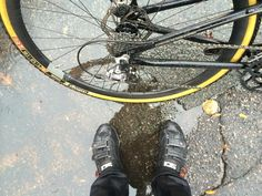 Rainy #commute to Montague HQ this morning! #bikecommute #boston #realbikesthatfold