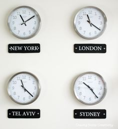 Clocks on a wall with time zone of different country christians how to make a world clock wall display gumiabroncs Gallery