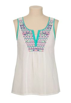 Embroidered tank Ideias De Costura ad238c5b1eb