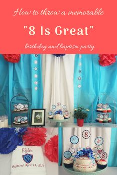 "How to put together a simple yet memorable ""8 Is Great"" themed party. !#8isgreat"