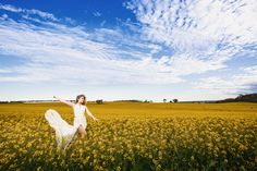 Fields of gold. Flower fields make the best shoot locations! See more at www.littlemissmonbon.com Instagram: @littlemissmonbon  #flowers #field #fieldofflowers