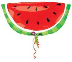 Watermelon Balloon Large Watermelon Balloon for a Watermelon Themed Party, Watermelon Baby Shower, The Very Hungry Caterpillar Party or Shower, and A Fruit Themed Party. Make sure to check out our Watermelon Napkins.