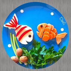 İlk yaptığım tabaklardan birisiydi bu balıklar çook altlarda kalmışlar, görmeyenler için tekrar sahneye çıktılar #dufinintabakları
