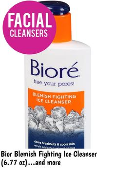(This is an affiliate pin) Bior Blemish Fighting Ice Cleanser (6.77 oz) Salicylic Acid Acne, Acne Breakout, Facial Cleansers, Good Skin, Cool Stuff, Ice, Ice Cream