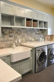 """""""View and collect Laundry Room design ideas at Zillow Digs."""" """"View and collect Laundry Room design ideas at Zillow Digs."""" """"View and collect Laundry Room design ideas at Zillow Digs. Laundry Room Design, Laundry In Bathroom, Laundry Area, Small Laundry, Basement Laundry, Bathroom Plumbing, Laundry Storage, Basement Flooring, Laundry Room Counter"""