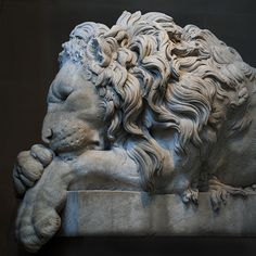 chatsworth sleeping lion.