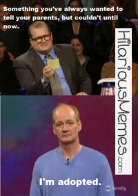 Funny Memes Colin Mochrie is a comedic genius....