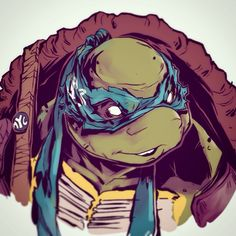 Leo has never been my favorite turtle, but he's won my vote for favorite look in the new movie. Had to do a sketch.