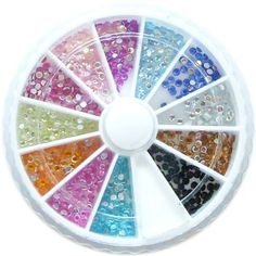MBox 1200 2mm Round Nail Art Rhinestone Wheel Kit *** This is an Amazon Affiliate link. For more information, visit image link.