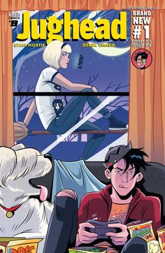 Jughead (2015-) #9  SABRINA makes her debut in the NEW RIVERDALE and things are about to get INSANE! New story! New arc! New creative team! Pop Tate's has a new mascot: it's a lady in a burger costume with a giant burger for a head! And she never takes off that giant burger head! And she and Jughead really hit it off, probably for that very reason! But is it possible Burger Lady is MORE than she appears?