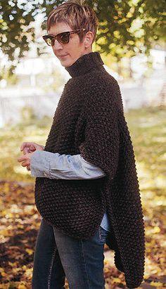Blanket Poncho PDF Knitting Pattern