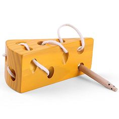 LOOBANI Montessori Activity Wooden Baby and Kids Cheese Toys Toddler Travel Lacing Game for Plane Car, Children Early Learning Educational Wood Block Puzzles, Suitable for Boy/Girl Above 36 Month Toddler Toys, Kids Toys, Children Play, Labyrinth, Educational Toys For Toddlers, Toddler Travel, Baby Mouse, Montessori Activities, Puzzle Toys