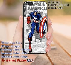 The Origin of Captain America iPhone 6s 6 6s  5c 5s Cases Samsung Galaxy s5 s6 Edge  NOTE 5 4 3 #movie #disney #animated #marvel #comic dl8