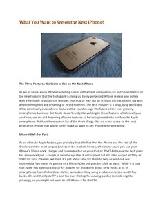 what-you-want-to-see-on-the-next-iphone by Leslie Bass via Slideshare