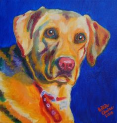 A painting I did of a yellow lab