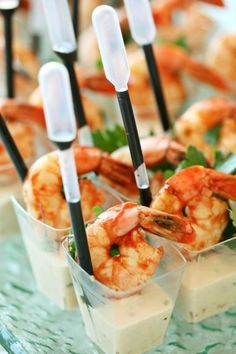 Blog - Culinary Crafts Bloody Mary poached shrimp, Paxil panna cotta balsamic reduction in squeeze vile