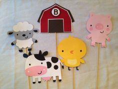 Barnyard Farm cutouts animal cutouts die cuts die by DrPartyCrafts First Birthday Cake Topper, Farm Birthday, 1st Birthday Parties, Birthday Party Decorations, Birthday Ideas, Sheep Pig, Animal Cutouts, Barnyard Party, Barnyard Animals