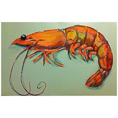 Toodle Lou Designs Mosaic Shrimp Acrylic Painting – Little Miss Muffin Children & Home Crab Painting, Diy Painting, Louisiana Art, Coastal Art, Fish Art, Beach Art, A Boutique, Painting Inspiration, Cool Art
