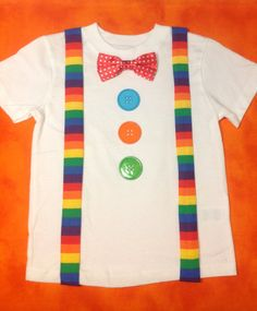 Boys Clown Birthday Circus Birthday Shirt 1st by MizThings on Etsy