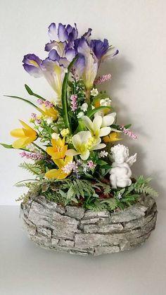 dekorBEA / Jarna spomiekova dekoracia II. Ikebana, Easter, Table Decorations, Spring, Plants, Furniture, Home Decor, Homemade Home Decor, Flora
