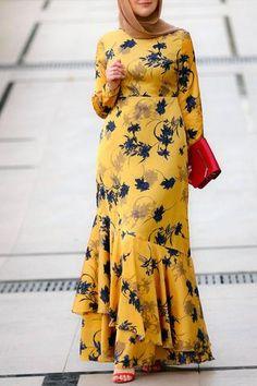 Annah Hariri, Online, Modest clothing atelier of high end quality – ANNAH HARIRI Long African Dresses, Latest African Fashion Dresses, Women's Fashion Dresses, Modest Fashion Hijab, Abaya Fashion, Apostolic Fashion, Modest Dresses, Modest Clothing, Floral Dresses