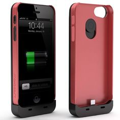 Maxboost Fusion Detachable External iPhone 5 Battery Case – Black/Red, Fits All Versions of iPhone 5 – Lightning Connector Integrated $79.95