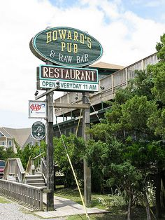 Howard's Pub, Ocracoke Island, NC....if we make it down to Ocracoke during our OBX vacation this year, I hope to have lunch or dinner @ Howard's
