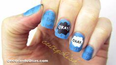 Pintar uñas con el estilo del libro Bajo la misma estrella de John Green