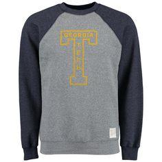 Georgia Tech Yellow Jackets Original Retro Brand Vintage Color Block Tri-Blend Sweatshirt - Heather Gray - $44.99