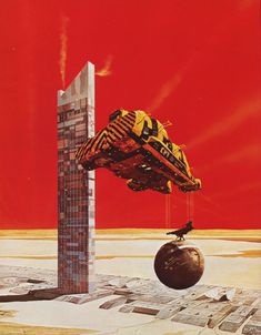 Born in 1946 in Guernsey, Channel Islands, Chris Foss is a British illustrator and a powerhouse of science fiction design and invention. His work is a celebration of future machinery, impossibly sized constructions exist on a planetary scale; a showcase of hardware so large that the human figure is dwarfed by comparison.