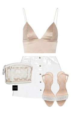 """Untitled #1530"" by elinaxblack on Polyvore featuring Veil London, Louis Vuitton, T By Alexander Wang and Giuseppe Zanotti"