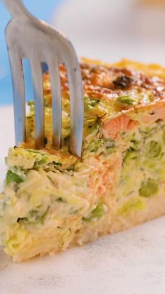 Healthy Breakfast Recipes, Healthy Dinner Recipes, Cooking Recipes, Tasty Videos, Food Videos, Salmon Recipes, Chicken Recipes, Quiche Recipes, Quiche Lorraine