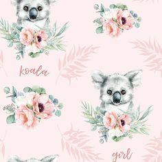 Koala baby girl blanket, Koala toddler blanket, Koala baby shower gift personalized blanket, Custom baby blanket koala crib bedding
