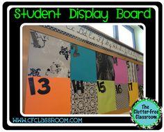 STUDENT WORK DISPLAY BOARD {Classroom 360}