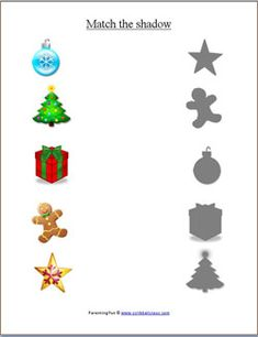 Christmas worksheets for preschoolers Preschool Christmas Crafts, Christmas Activities For Kids, Toddler Christmas, Preschool Activities, Christmas Fun, Christmas Worksheets, Theme Noel, Preschool Worksheets, Kids Learning
