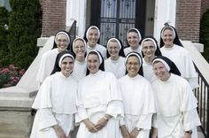 Sisters who made their First Profession of vows with the Dominican Sisters of St Cecilia at the Cathedral of the Incarnation in Nashville, Tennessee, on July 25, 2013. @thereserita I'm sure you've seen this before.