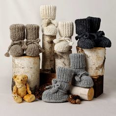 Luxurious Organic Infant and Baby Clothing: accessories : Alpaca Sock Booties with Ties