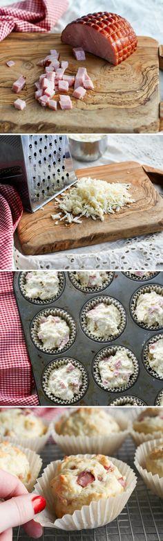 Stephanie's Ham & Swiss Muffins