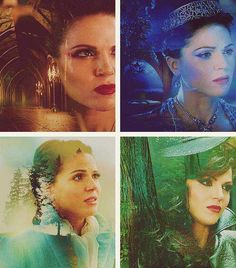 Regina vs evil queen. Still amazes me how amazing of an actress she is... She changes between the evil queen and the Regina with a heart by merely changing her facial expressions... How does she do that?