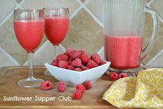 Sunflower Supper Club: Raspberry Lemonade Slushy