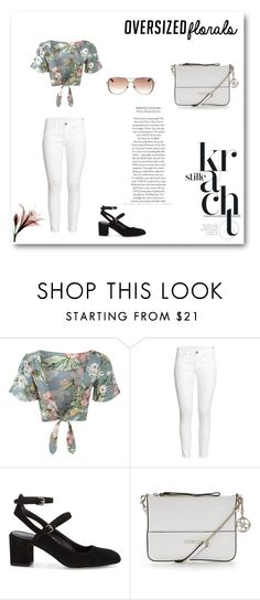"""floral 3"" by marvelialauraa on Polyvore featuring Pilot, H&M, Rebecca Minkoff, GUESS and Michael Kors"