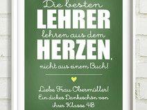 ★ Die BESTEN Lehrer ★ Print 21x30,5cm ★