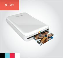 "Print anywhere with the Polaroid ZIP Instant Photoprinter. This pocket-sized device pairs wirelessly to any smartphone or tablet via Bluetooth 4.0 or NFC and uses a dedicated mobile app available for iOS or Android, allowing you to instantly edit and print 2x3"" full-color photos."