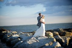 Beautiful picture captured on the jetty at Land's End #wedding #waterfront #venue #beach #jetty #realweddings #longisland #newyork