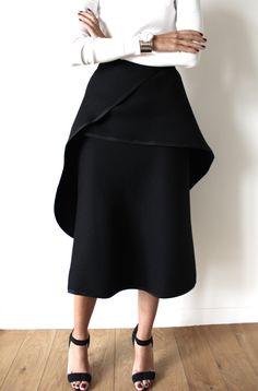 Wide peplum skirt