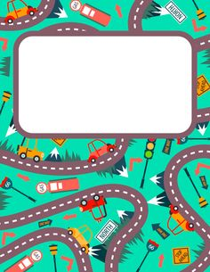 Free printable road trip binder cover template. Download the cover in JPG or PDF format at http://bindercovers.net/download/road-trip-binder-cover/