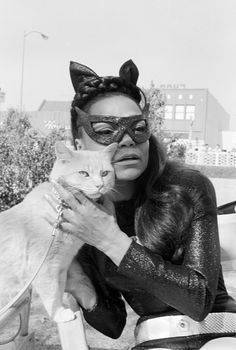 Eartha Kitt as Catwoman any batman including batman the movie of the original series,but never ,please never watch that awful film with halle berry,who is your favourite catwoman