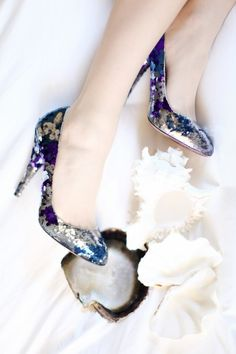 glamorous glitter - sweet something blue I do need something blue and I need shoes.  A win win.#Whiteflash #Verragio