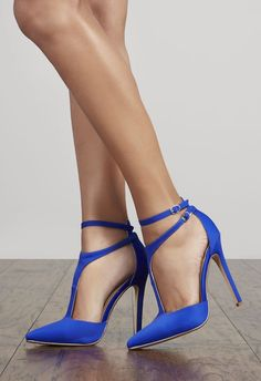 1a56730acd Aphra Royal Blue Heels, Blue Shoes, Trendy Shoes, Hot Heels, Womens High